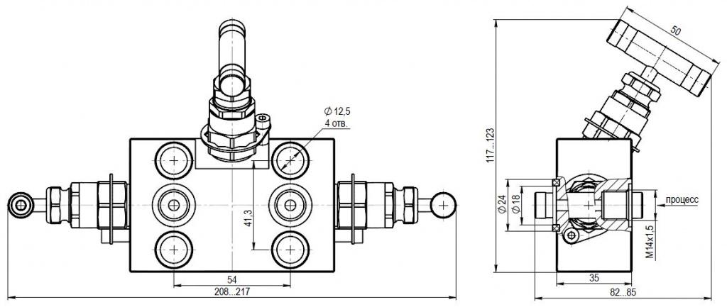 KIPVALVE MV300-P1F.M16.TB.08Х18Н10